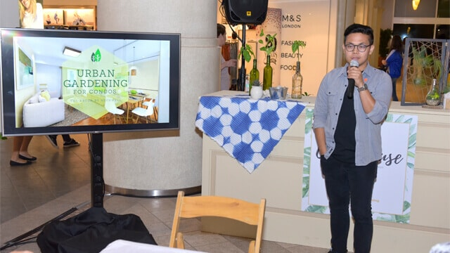 Marvz Conti of Habil Crafts gave a short talk on urban gardening for condominiums.